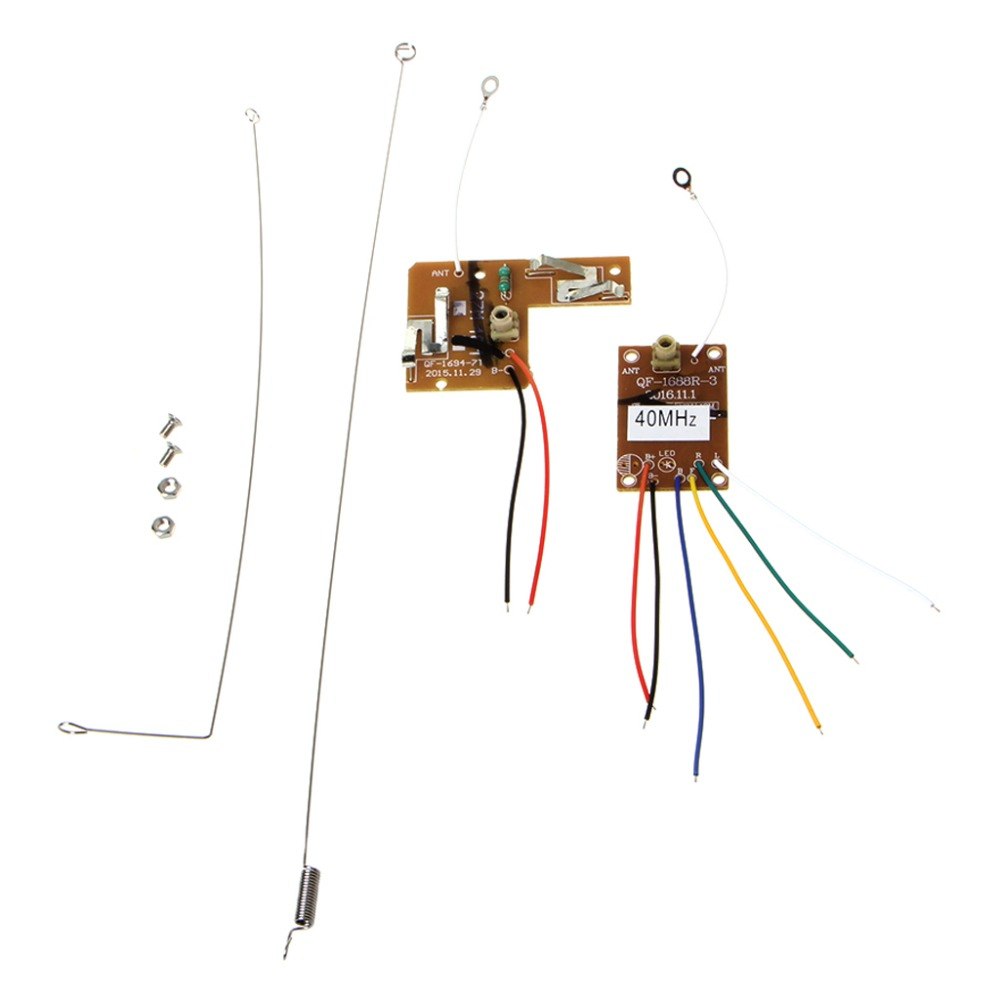 4CH <font><b>40MHZ</b></font> <font><b>Remote</b></font> Transmitter & Receiver Board with Antenna for DIY RC Car Robot image