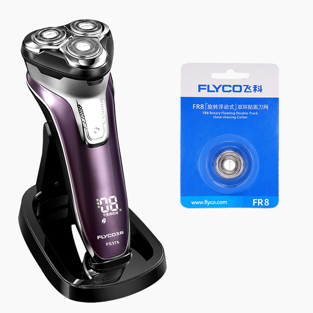 Flyco Cutter Head Shaving Machine for Beard Whole Body Washing 1 Hour Quick Charge Maquina De Afeitar Electrica Para FS376-B fifty shades darker no bounds riding crop длинный стек из натуральной кожи