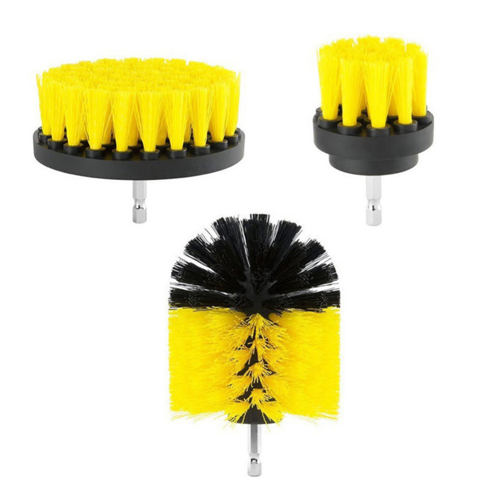 3 pcs Power Scrubber Brush Drill Brush Clean for Bathroom Surfaces ...