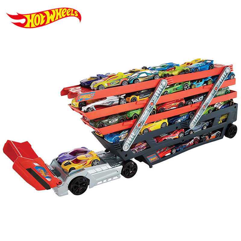 Hot-Wheels-Heavy-Transport-Vehicles-CKC09-Hotwheels-6-Layer-Small-Car-Toy-Scalable-Storage-Transporter-Truck-Boy-Educational-Toy-1