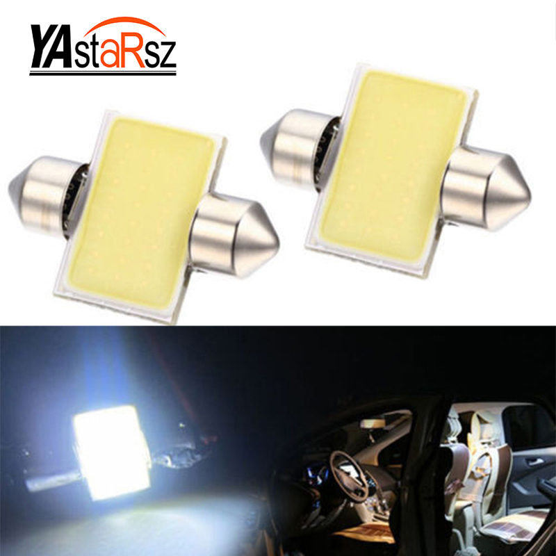 1X Free shipping car styling 31mm C5W 12V 3W Car led festoon light COB 12 chips Auto led LIGHT LAMP bulbs car light 2pcs 12v 31mm 36mm 39mm 41mm canbus led auto festoon light error free interior doom lamp car styling for volvo bmw audi benz