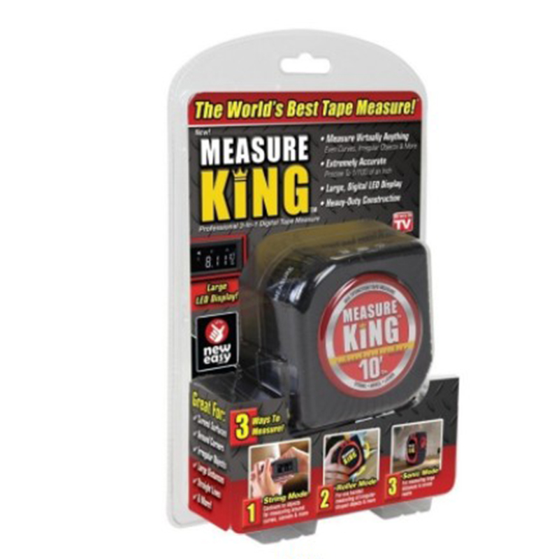 3-in-1 Digital Tape Measure String Mode Sonic Mode Roller Mode Measuring Tools Measure King new 3 in 1 digital tape measure string sonic roller mode laser tool