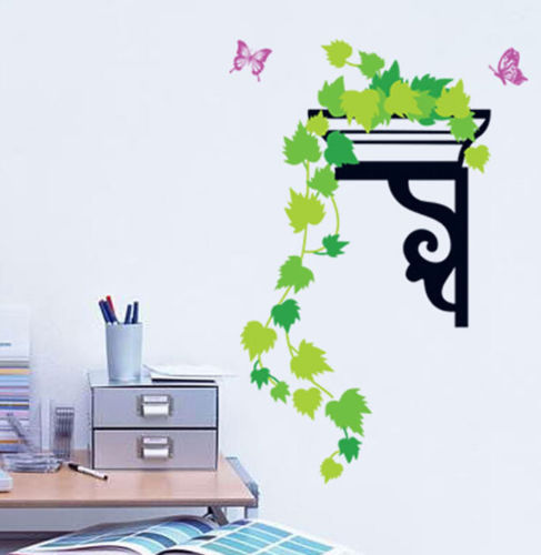 FD2459 Home Decor Craft Sticker Bedroom Toilet Wall DIY Sticker ~Green Leaves~