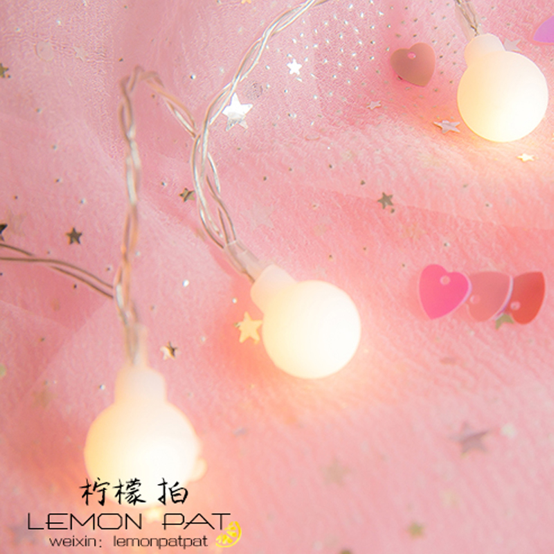 Luminarias LED Cotton Ball String Lights Curtain garland lamps fairy wedding Indoor Outdoor Christmas Holiday Lighting 10m battery operated fairy lights led string garland curtain lamp for wedding indoor holiday lighting christmas tree luminaria