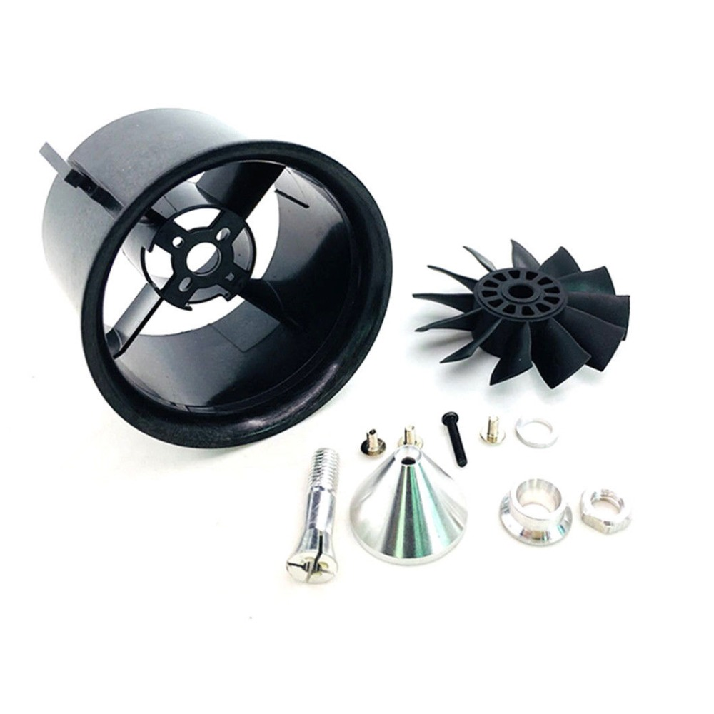 70mm Duct Fan Unit 12-Blade Propeller Kit for RC 1500g EDF Jet AirPlane Aircraft