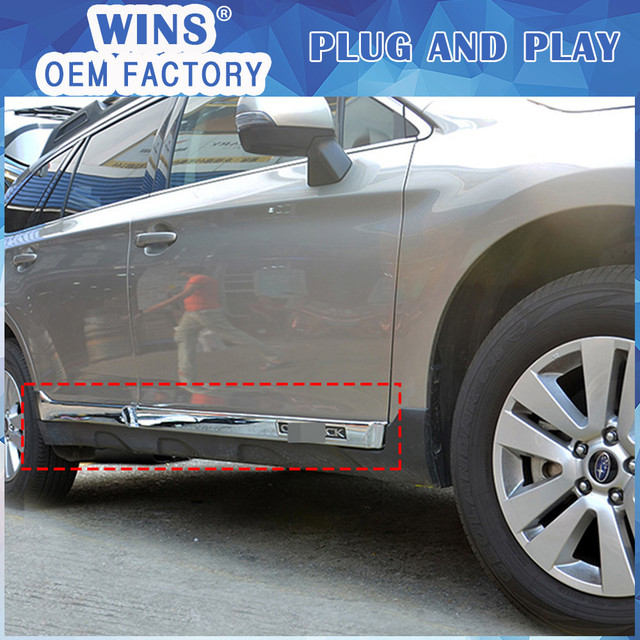 NEW ACCESSORIES FOR Subaru outback 2015 2016 ABS SIDE DOOR BODY GARNISH MOULDING COVER trim PROTECTION & NEW ACCESSORIES FOR Subaru outback 2015 2016 ABS SIDE DOOR BODY ...