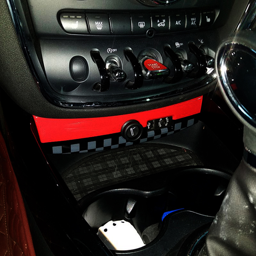 ABS Car Protected Ignition Device USB Panel Shell Cover Case Decoration For MINI COOPER F54 Clubman Interior Styling Moulding mini car rear door handle decoration moulding cover smooth surace union jack grey uk checkered for mini cooper clubman f54