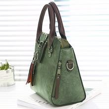 Vintage Leather Ladies HandBags Women Messenger Bags TotesTassel Designer Crossbody Shoulder Bag