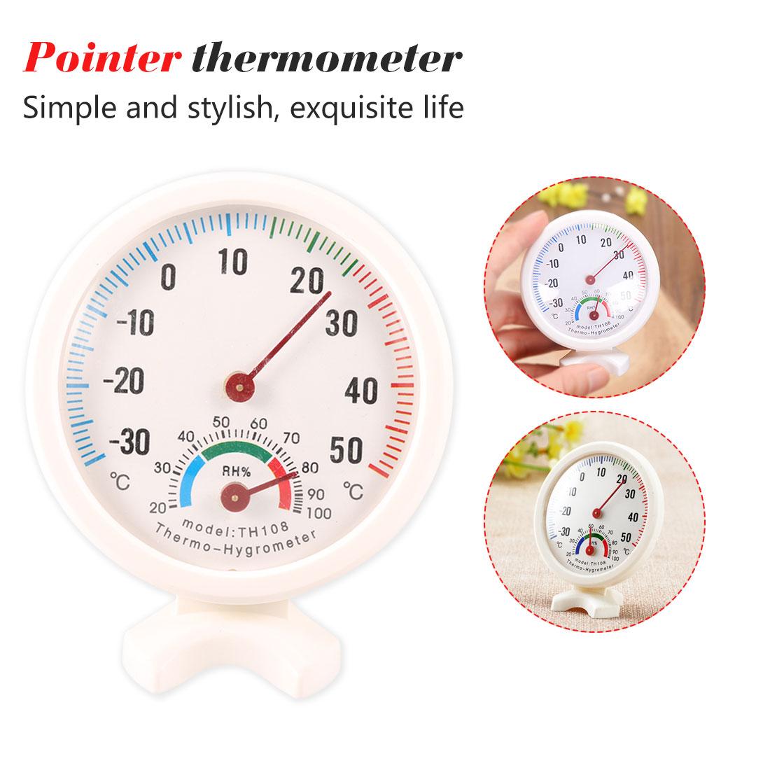 1pc ferramentas de cozinha mini termômetro de umidade metros em forma de relógio redondo higrômetro ao ar livre indoor medidor de temperatura de umidade