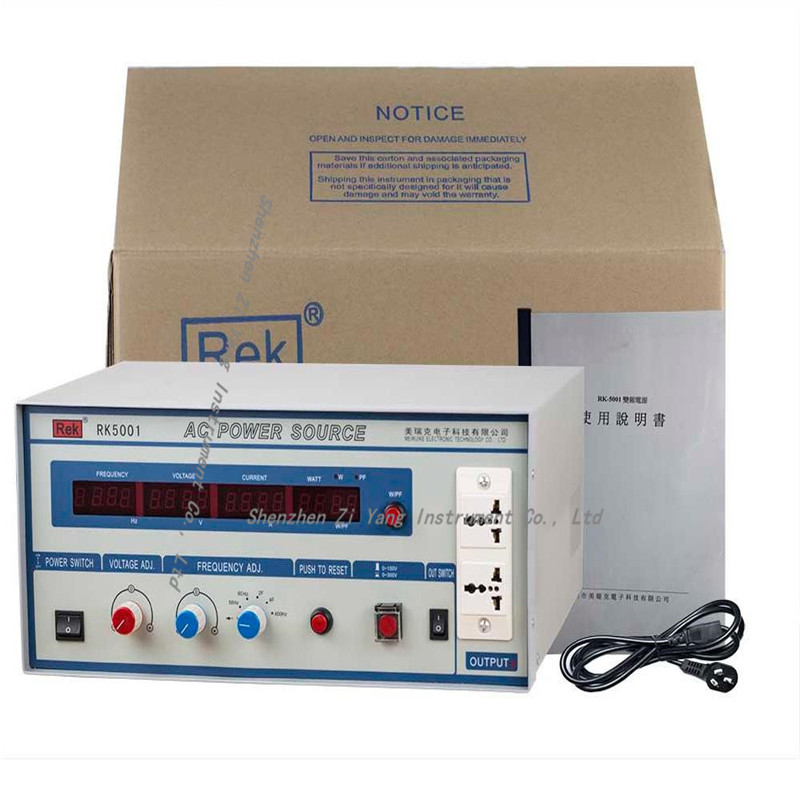 1000VA AC Power Source RK5001 Variable frequency power supply Power meter Pressure Hipot tester Resistance1000VA AC Power Source RK5001 Variable frequency power supply Power meter Pressure Hipot tester Resistance