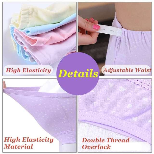 Organic Cotton Maternity Briefs Adjustable Maternity Underwear