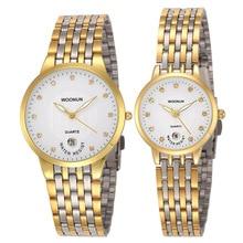 2017 WOONUN Top Brand Luxury Couple Watch Set Men Women Ultr