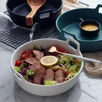 Creative Fruit Salad Bowl Household Tableware Ceramic Soup Bowl Noodle Rice Bowl Food Container Dishes Vintage Salad Pot M98C