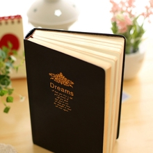 Bible Leather Nice Diary Notebook Gift Blank fitted Journal Traveler Notepad Black Classic Planners 208sheets A5 Size