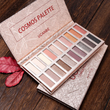 Global fashion 20 color eye shadow palette earth peach wine red mermaid pearlescent matte