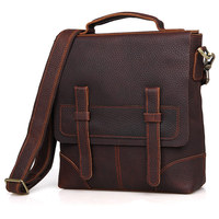 Cow Leather Vintage Handmade Briefcase Mens Genuine Cowhide Totes Laptop Messenger Male Business Office Bags Lawyer