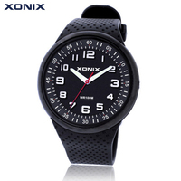 XONIX Top Brand Luxury Mens Watches Fashion Sports Watch Waterproof 100M Quartz Watch Swimming Diving Wrist