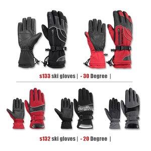 Image 4 - ROCKBROS gants de moto imperméable thermique pour hommes et femmes, pour Snowboard, pour neige