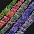 Más color de la luz, de Piedra de Roca de Cuarzo Natural Tapa Perforaron Briolettes Puntos de Palo, Cristales Crudos Graduado Colmillo Pico Cuentas colgantes
