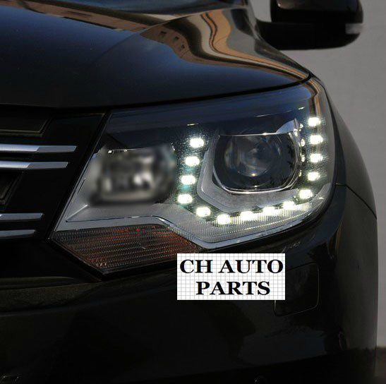 ,2012 2013 CHA VW TIGUAN ANGEL EYE HEADLAMP HEADLIGHT, TO UPGRADE GENERAL EQUIPED WITH DELUXE ONE - Guangzhou DLand Auto Parts Co., Ltd. store