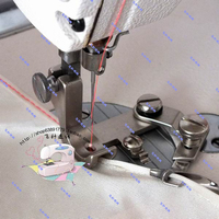 Industrial Sewing Machine Accessories Flat Chiffon Curl Edge Presser Foot Hem Curved Edge Presser Feet Puller Faucet