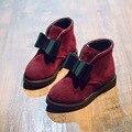 De los niños Niñas zapatos Lindos Bow-knot Chicas Botas de Invierno Cálido Algodón de Los Cabritos Del Niño Botas Zapatos de Los Niños Zapatos de Las Muchachas
