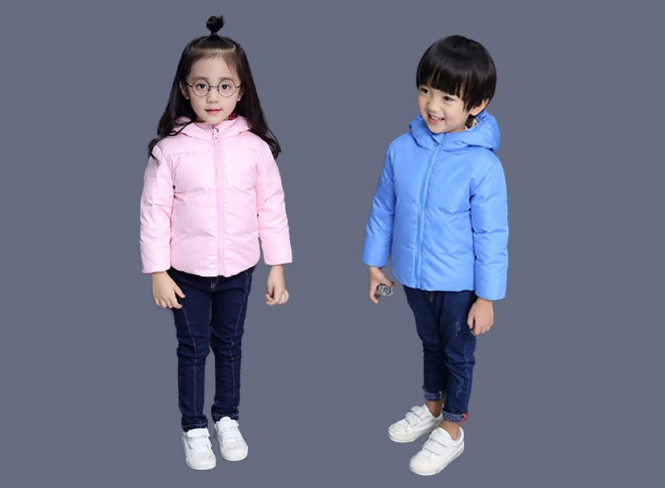 0f527603053b Buenos Ninos Children Duck Down Jacket Coat Boys And Girls Seamless Sides  Wear Hooded Down Jackets Kids Parkas Outerwear-in Down   Parkas from Mother  ...