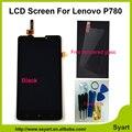 100% Тестирование Для Lenovo P780 ЖК-Дисплей С Сенсорным Экраном Дигитайзер Ассамблеи Замена Гарантии + Закаленное Стекло подарок + Инструменты