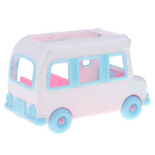 Cute Mini Private Car Electric Car Model Dolls House Miniature Accessory For Little Sister for Kelly Doll Toy(China)