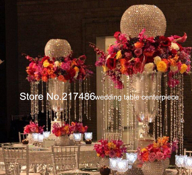 sell top ball crystal candlestick flower stand