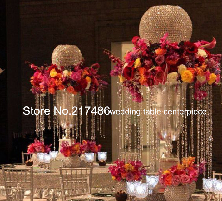 Only Sell Top Ball Crystal Candlestick Flower Stand