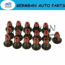 16 PCS Valve Stem Seals Kit Application For BMW E53 X5 E63 E65 E70 X5 E71 X6 E87 E90 N42 N46 N62