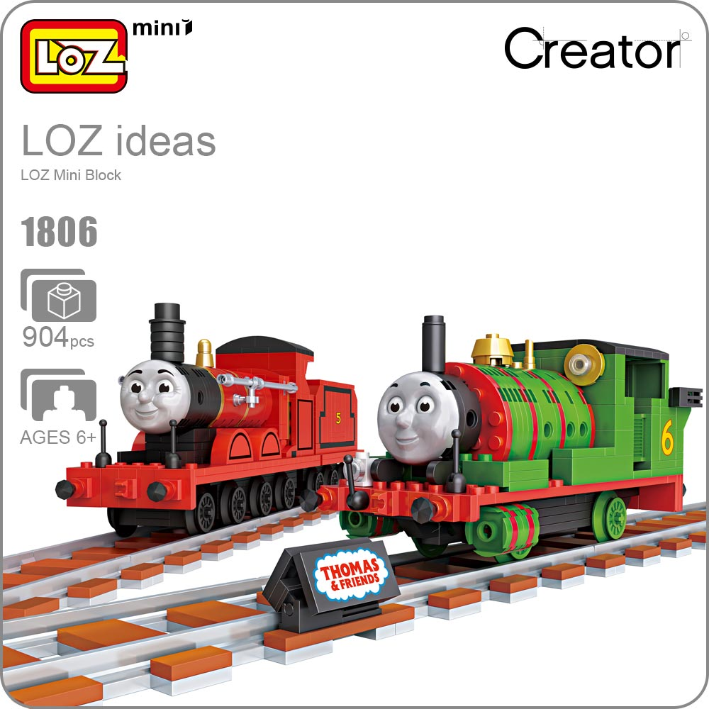 LOZ Miniblocks Building Blocks Anime Train Track Brick Plastic Assembly Toy Children Educational Kids Gift DIY Toys Hobbies 1806 loz gas station diy building bricks blocks toy educational kids gift toy brinquedos juguetes menino