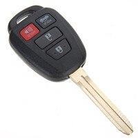 Nueva Caliente 4 Botón de Entrada Sin Llave Del Coche Clave Remoto Fob Reemplazo Para 2012-2014 Toyota Camry