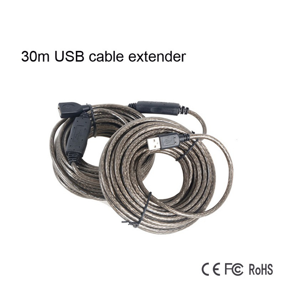 ФОТО MT-VIKI Long Distance 30m USB 2.0 Male to Female USB Cable Extend Extension Cable With Up 30m To  Extension Range Cord Extender