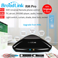 Broadlink rm2 rm pro universal controle remoto sem fio smart home automation wifi + ir + rf switch via ios android, casa inteligente