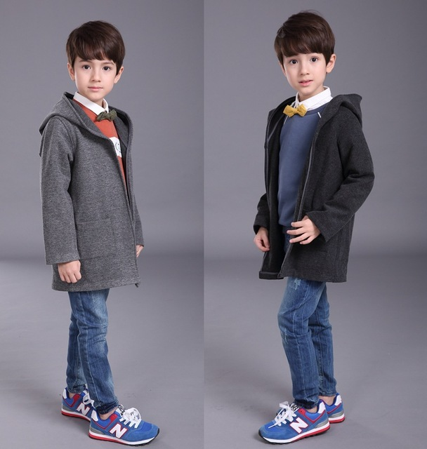 d7b7480a0 Boys Winter Wool Coat For Kid Duffle Kinder Winter Jackets Warm ...