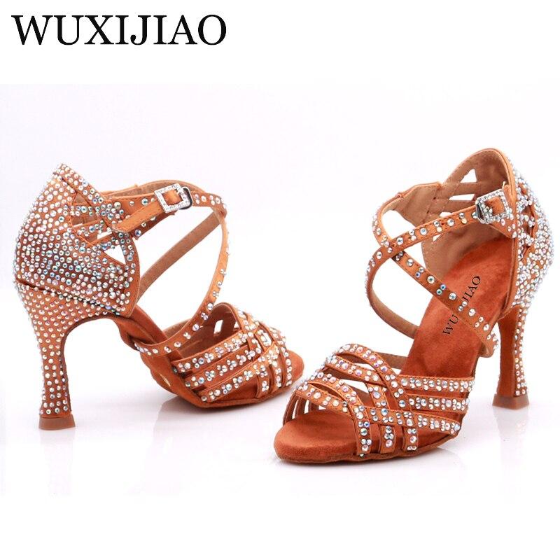 WUXIJIAO femmes chaussures de danse de salon Salsa chaussures de danse latine chaussures de danse carrées Samba Tango chaussures de valse pour les femmes de mode