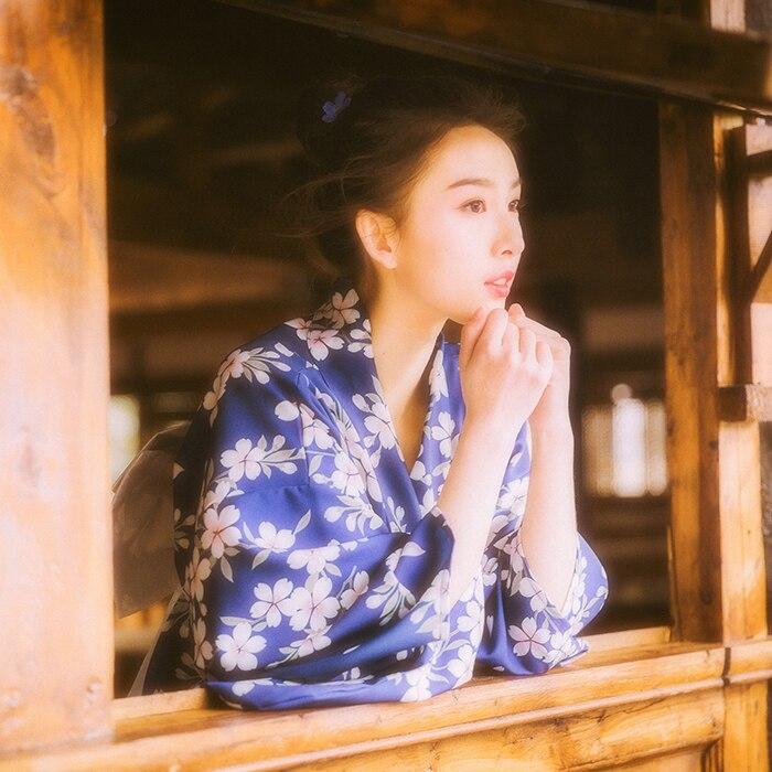 2019 Kimono Japanese Kimono Mujer Yukata Japan Kimono Dress Cosplay Yukata Female Obi Japanese Kimono Feminino