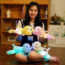 1 шт. 35 см Световой Собака плюшевые куклы красочные со светодиодной подсветкой собаки детские игрушки для девочек Kidz подарок на день рождения Бесплатная доставка