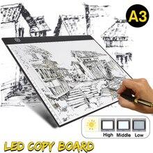 Мини A3 планшет для рисования цифровой графический коврик USB светодиодный светильник коробка для отслеживания копировальная доска электронная художественная графическая живопись письменный стол
