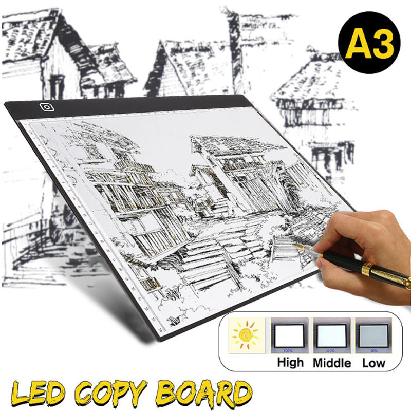 Mini A3 Drawing Tablet Digital Graphics Pad USB LED Light Box Tracing Copy Board Electronic Art Graphic Painting Writing Table