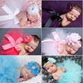 Princess Newborn flower headband and tulle tutu baby photo fotografia prop accessory fashion ball gown