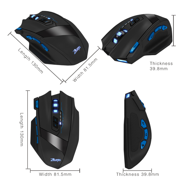 New Zelotes F15 Dual Mode Gaming Mouse