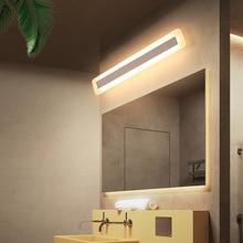 цены LED Bathroom lights 40/60/80/100/120cm LED Mirror Front Wall Lights dresser Modern Brief Bathroom Mirror lamp Free Shipping