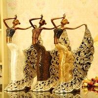 Бесплатный подарок смолы абстрактные фигурки ремесло декоративные скульптуры красивая женщина Танцы танец павлина украшения дома