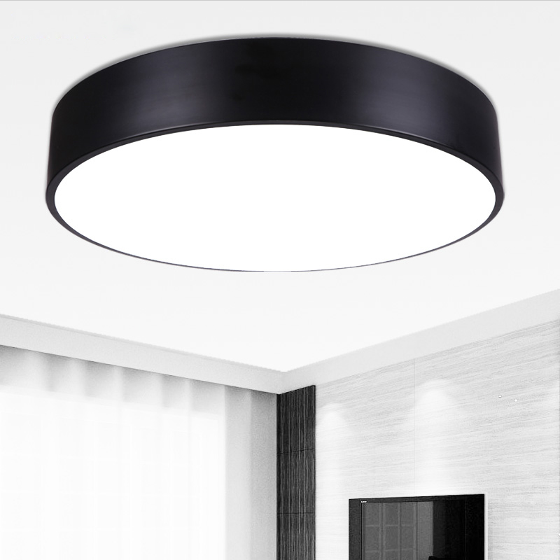 LED ceiling lamp ideal modern white indoor round suitable for home light living room bedroom diningroom modern noosion modern led ceiling lamp for bedroom room black and white color with crystal plafon techo iluminacion lustre de plafond