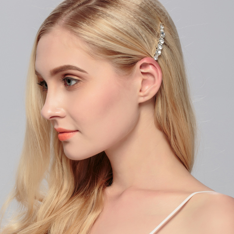 1 pcs Shining Crystal Diamond Hair Clips Sweet Ladies Wedding Party Headwear Jewelry Korean Style Side Hairpins for Women in Hair Clips Pins from Beauty Health