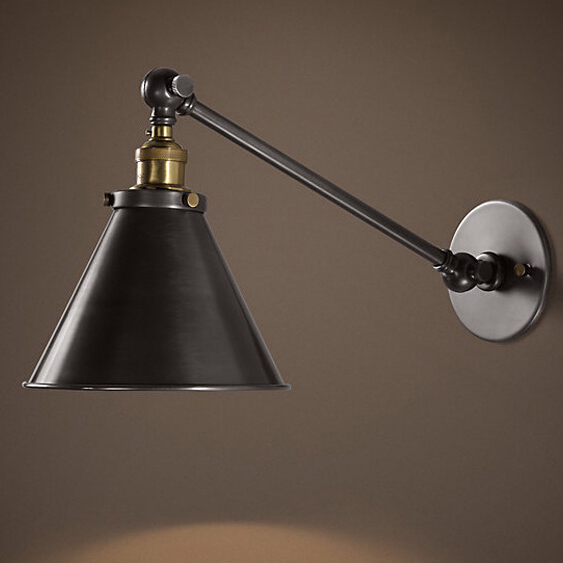 Edison Wall Lights Hallway Bedroom Sconces Wall Lamps Black Iron Amazing Bedroom Swing Arm Wall Sconces