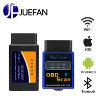 hot ELM 327 Bluetooth and WIFI Car diagnostics Interface OBD2 Auto Diagnostic Tool obd 2 Car Scanner Works On Android and IOS